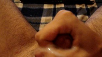 Jerking off and great cum