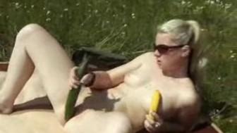 Sommer Sonne Gurke Banane