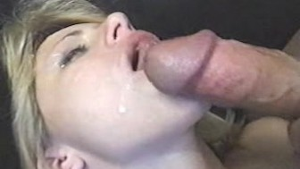 Hot Blonde Housewife - Anal + Drinks Cum