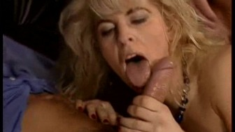 Hot blonde has to do blowjob