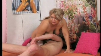 Granny seduces her young friend 3/6