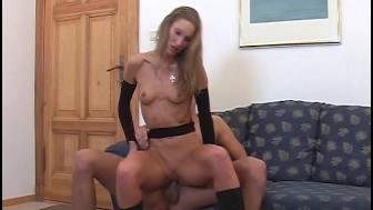 Stud plays with a blonde and brunette 2/8