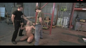 Krissy Leigh blowing men from workshop