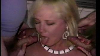 Buxom blonde gets 2 cumshots Pt 1/2