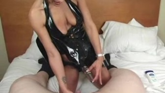 dominatrix girl take on a tiny dick