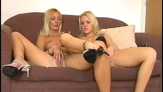 Hot blonde foxes in the dressing room