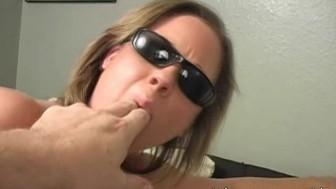 Sophia Wears Sunglasses 4 Facial on glasses