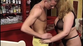big hooker fucked in the bar