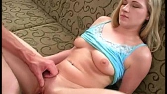 Blonde Takes First Big Dick