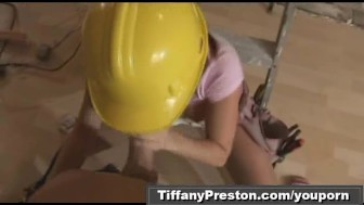 Busty contractor get facial part2of2