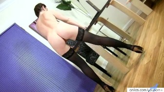 Anilos Tibby striptease and fingering