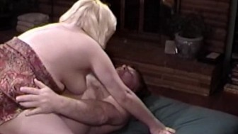 Blonde BBW gets a mouthful