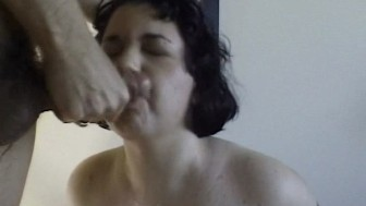 Chubby big tits sloppy blowjob