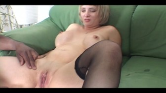 Blonde nailed real hard forom black guy