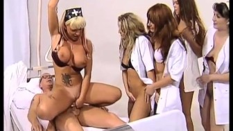 Poor patient fucked by 8 GIRLS!