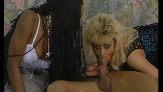 Ebony ivory threesome