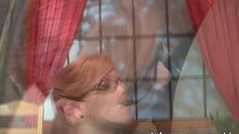 Rookie RedHead Gets Cum on her Glasses facial