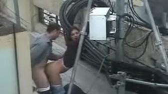 Bulgarian Couple Fucking on the rooftop