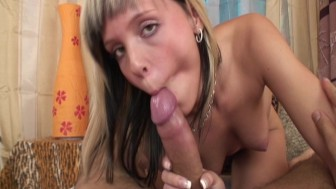 Loves to save cum in mouth