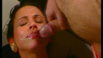 Maria wears her pearls while getting cummed