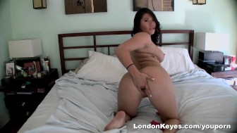 London Keyes sets up a camera in her bedroom