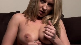 Hot Big Tit MILF Video Tapes Herself
