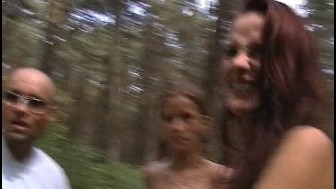 Two cute teens blowing in the wind - DBM Video