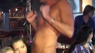 Public cock sucking party