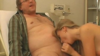 Nurse Gets a Sperm Injection