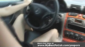 PEDAL PUMPING ON MERCEDES WITH TIFFANY PRESTON