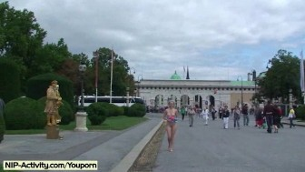 Lucie - Hot Public Nudity With Sweet Blonde