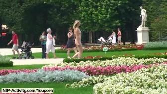 Hanka - Sweet blonde enjoys the sun in public