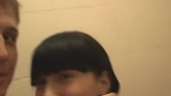 Pierced tongue licks all over hard cock