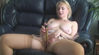 Stocking Milf Strip Teases