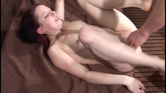 Girl getting slammed by a hard cock