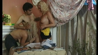 Three scenes of blondes getting fucked