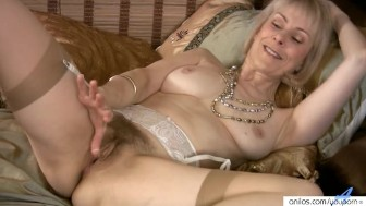 Hairy Mature Masturbation With Beads