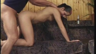 Hot cum out of pussy and ass