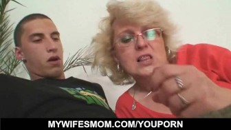 dude fucks his wife's mom till wife comes in