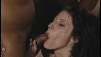 Hot brunette likes her dicks black and more than one at a time (clip)