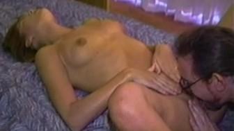 Hot chick pussy tongue massage