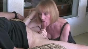 Jacking it into Melanie's mouth
