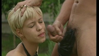 She gets a taste of all the guys wiener sauce (clip)