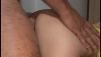 Blonde rides dude's cock