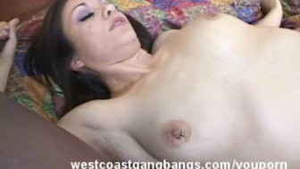Pretty Brunette Crave for Gangbang and Cumshots