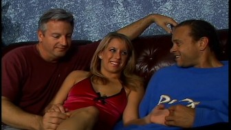 Hot blonde and two guys get frisky