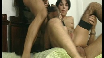 Hot short hair European girl satisfies her cock craving. (Clip)