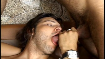 They all get to taste some cum