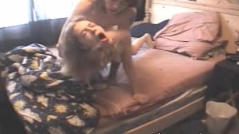 Katie and Jayson in Bed Banging