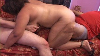 Hot threesome with BBW (CLIP)